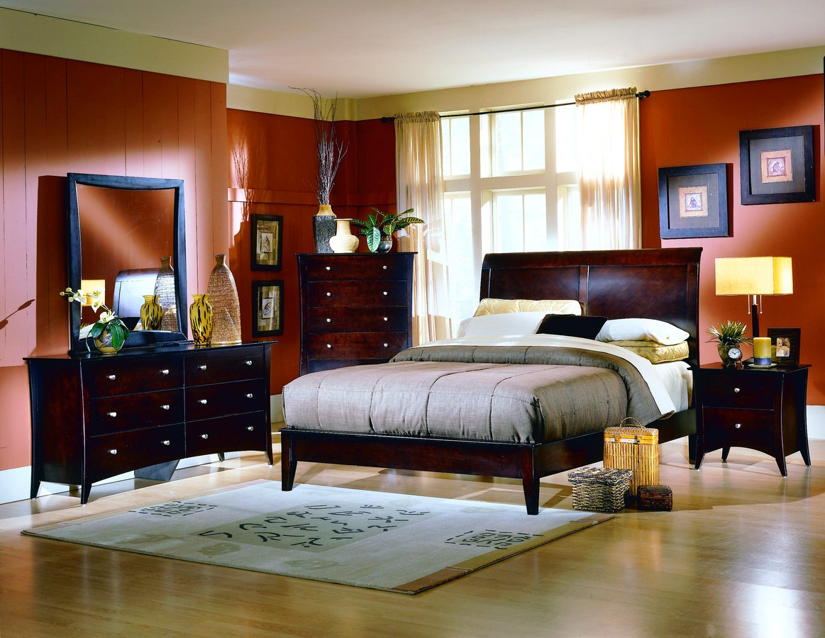 Rose Wood Furniture Dark Wood Bedroom Furniture