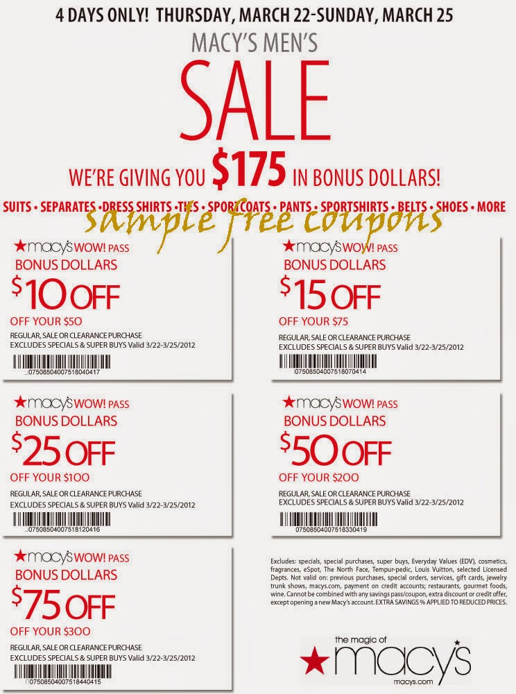 15 Macy 39 S Printable Coupon You Sign Up Here