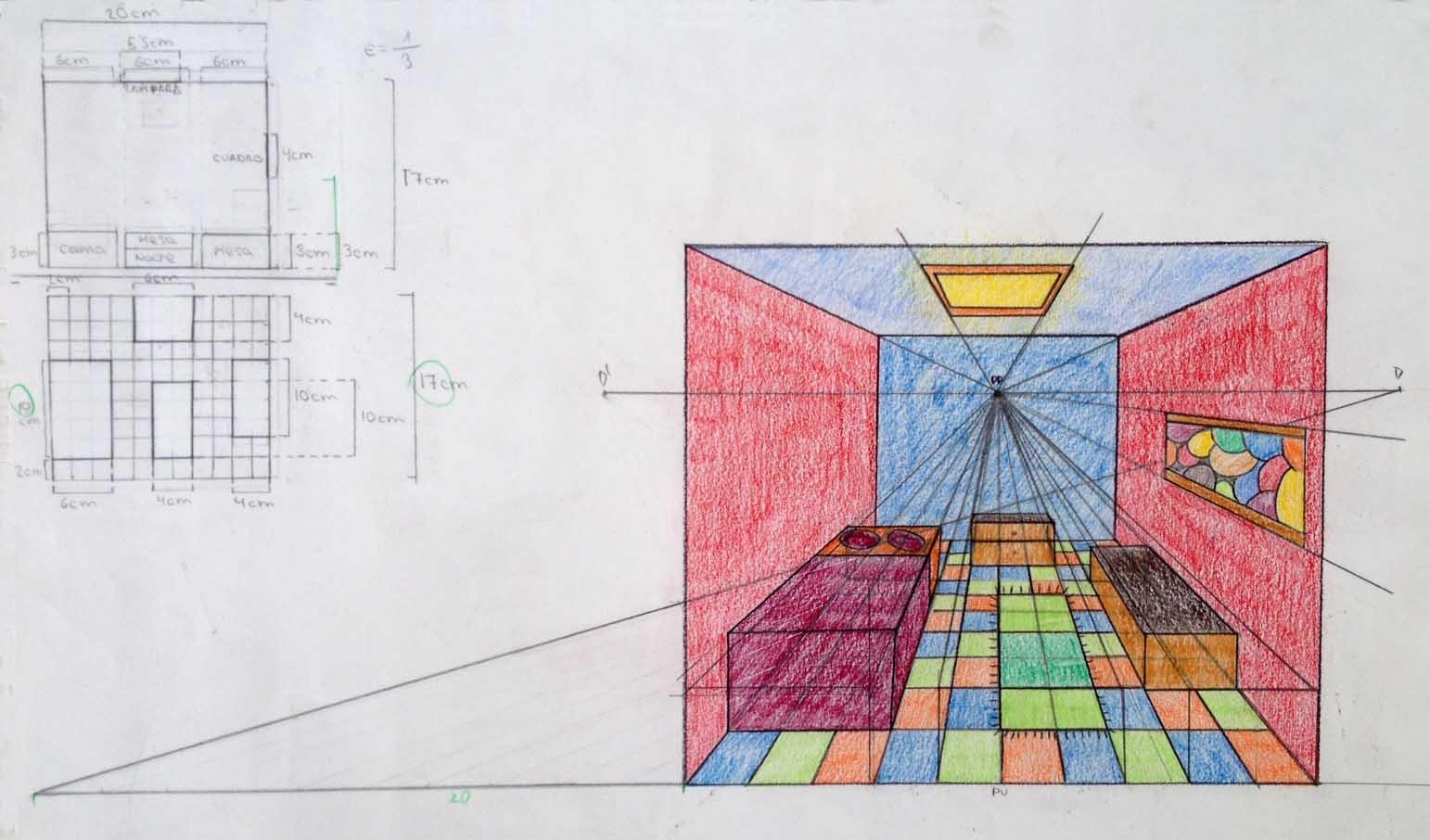 Epv colegio san jos dominicas mayo 2013 - Habitacion en perspectiva conica ...