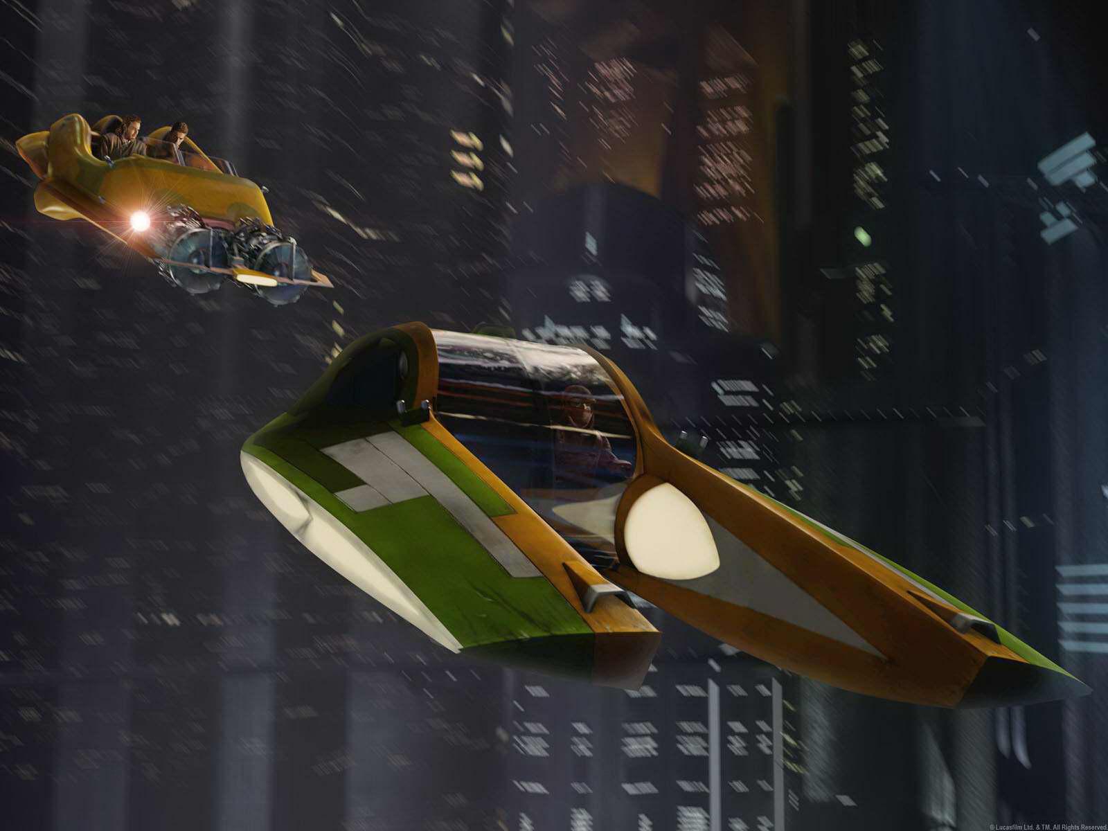 Znalezione obrazy dla zapytania star wars flying cars