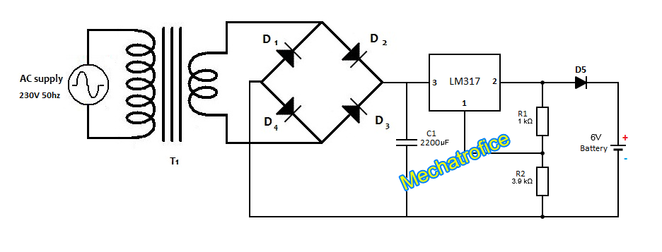 6v battery charger circuit