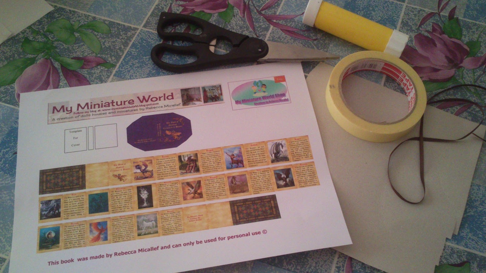 my miniature world the making of my miniature world miniature books
