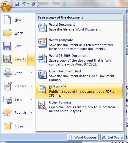Cara mengubah file word ke pdf dengan mudah