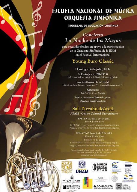 """Concierto """"La Noche de los Mayas"""" en la Sala Nezahualcóyotl CCU UNAM"""