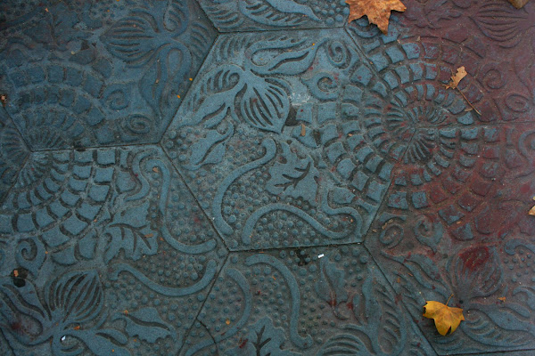 Gaudi sidewalk pattern, Barcelona, Spain