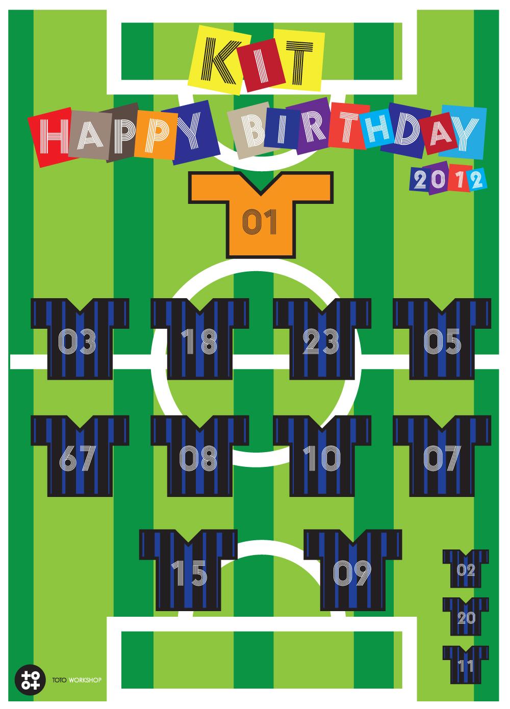 toto workshop birthday card design for my best friend  soccer match, Birthday card