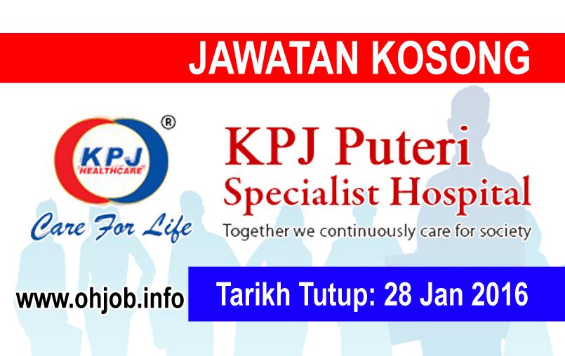 Jawatan Kerja Kosong KPJ Puteri Specialist Hospital logo www.ohjob.info januari 2016