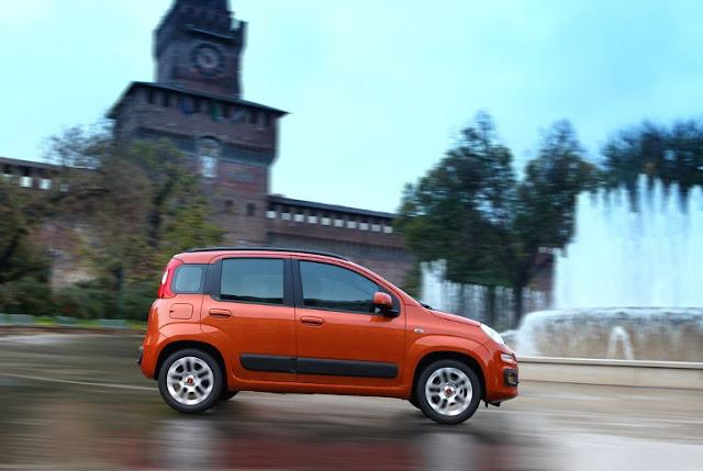 La nuova Fiat Panda davanti al Castello Sforzesco