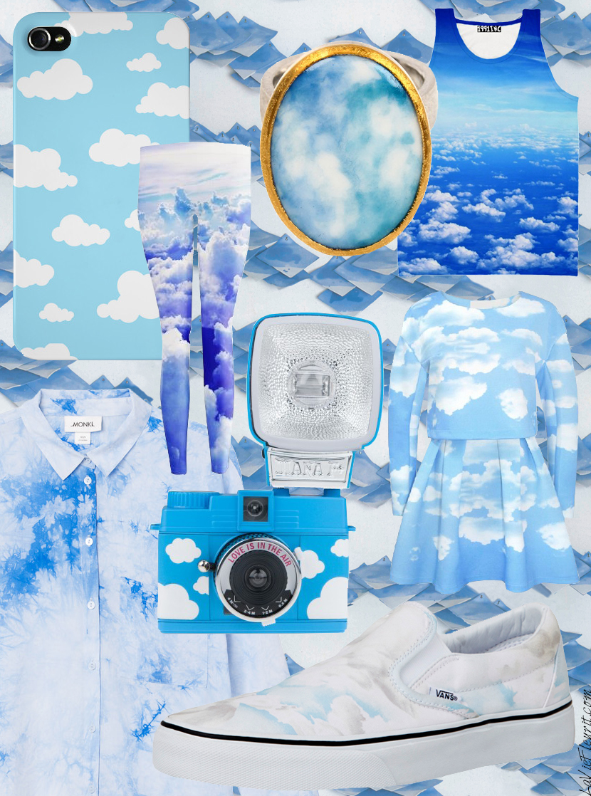 Trend File | With my Head in the Clouds by La Vie Fleurit !!! Mix and Match, Fashion, Accessories, Lifestyle, Shoes, Brands, Trends, Trend File, Style, Styling, Moodboard, Casual, Interior, Wish List, Must Have, Sky, Air, Dream, Monki, Lomography, Aristide, Pieter Stockmans, Vans, Kenzo, Materia Prima, The Diary, 1991INC, Sugarpills, Choies, Blog, Blogger, Fleur Feijen