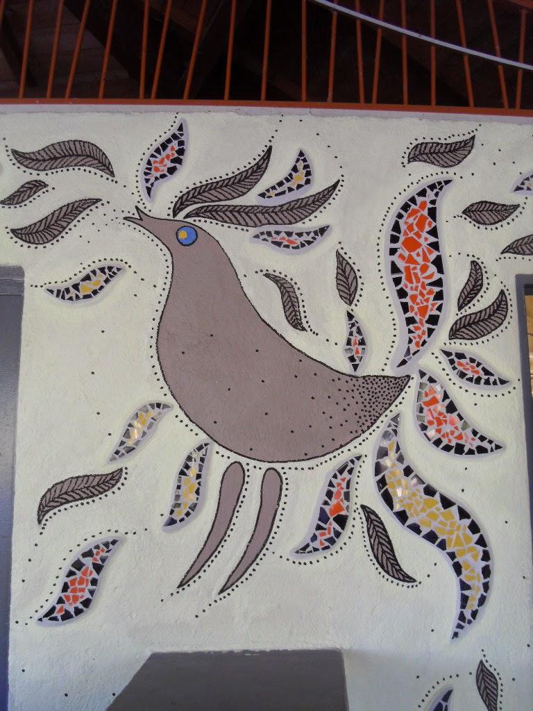 Service jeunesse de cruas retour sur les vacances de la for Peinture mosaique