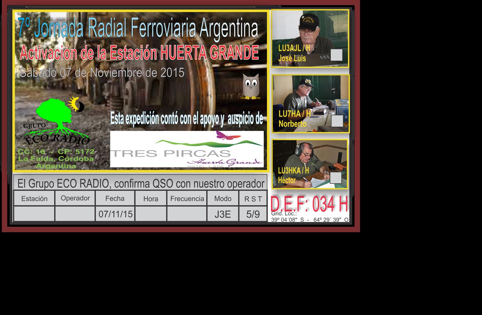 QSL Especial 7º Jornada Radial Ferroviaria 2015