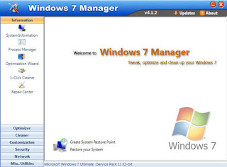Windows 7 Manager 4.2.1 Portable