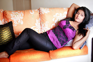 Reema Debnath in a Purple Tank Top Sizzlign spicy Pictures