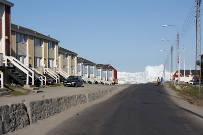Glasgow punter icebergs visible at the end of one of the streets in ilulissat greenland july 2015 fandeluxe Gallery