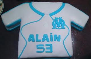 gateau anniversaire pate a sucre Olympique de Marseille