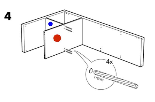 ikea expedit shelving unit instructions