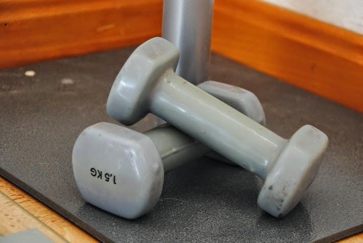ejercicio con pesas