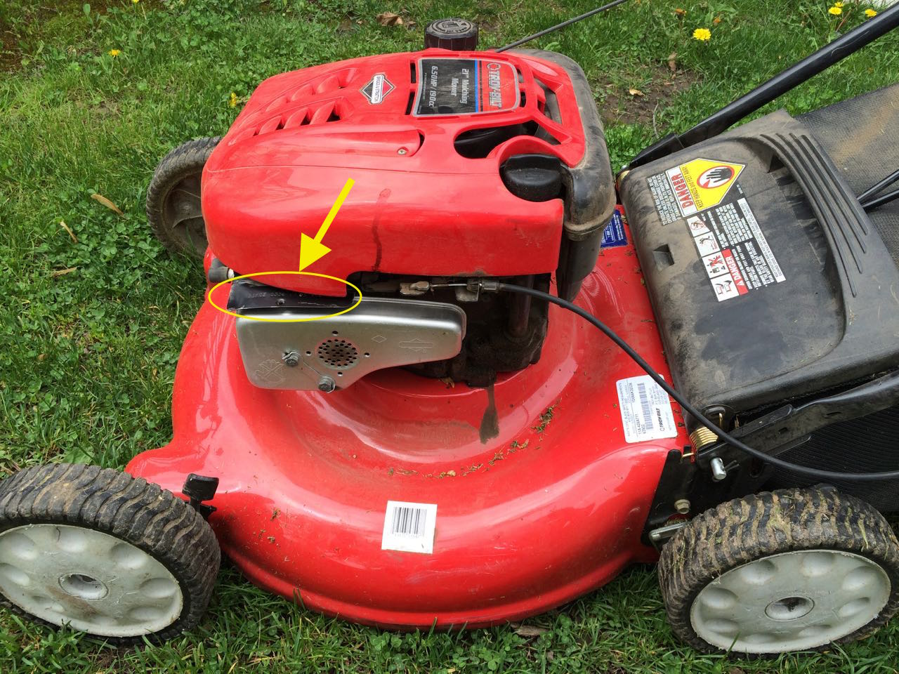 How to change the oil on troy built 21 mulching lawn for Best motor oil for lawn mowers