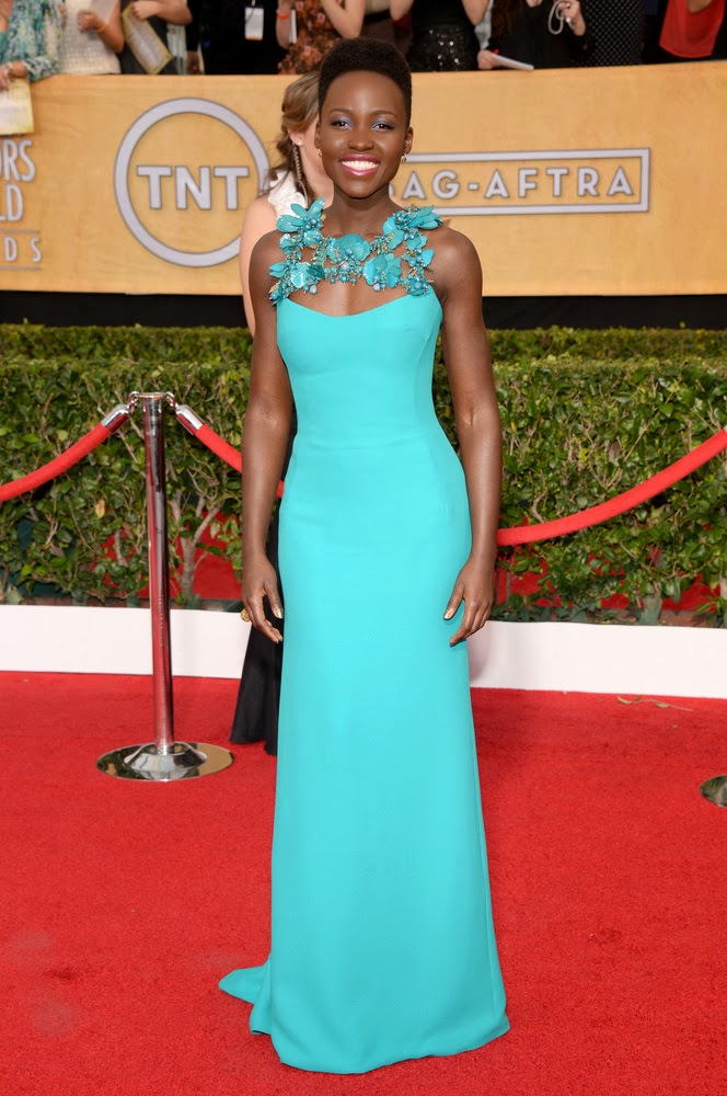 Lupita Nyong'o in Gucci at the SAG awards
