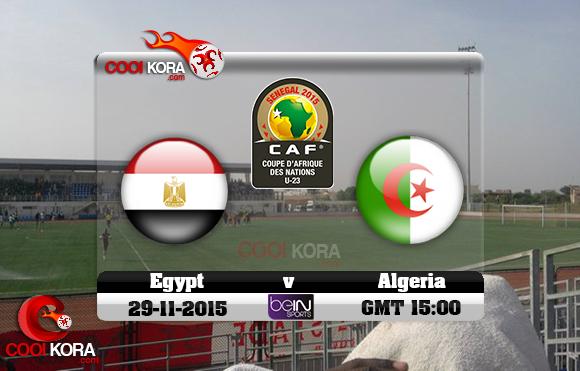 مشاهدة مباراة مصر والجزائر اليوم 29/11/2015 علي بي أن سبورت HD10