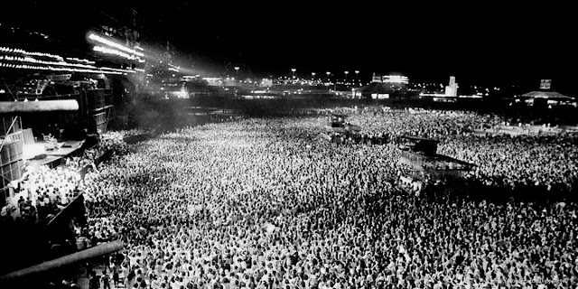 Rock in Rio January 19th 1985. AC-DC headlined followed by Scorpions, Ozzy Osbourne & Whitesnake.  Audience 280,000