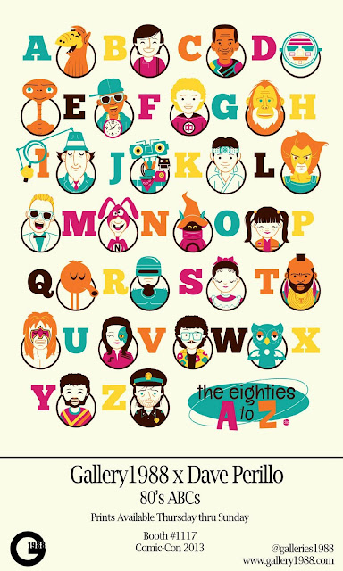"San Diego Comic-Con 2013 Exclusive ""80's ABCs"" Screen Print by Dave Perillo"