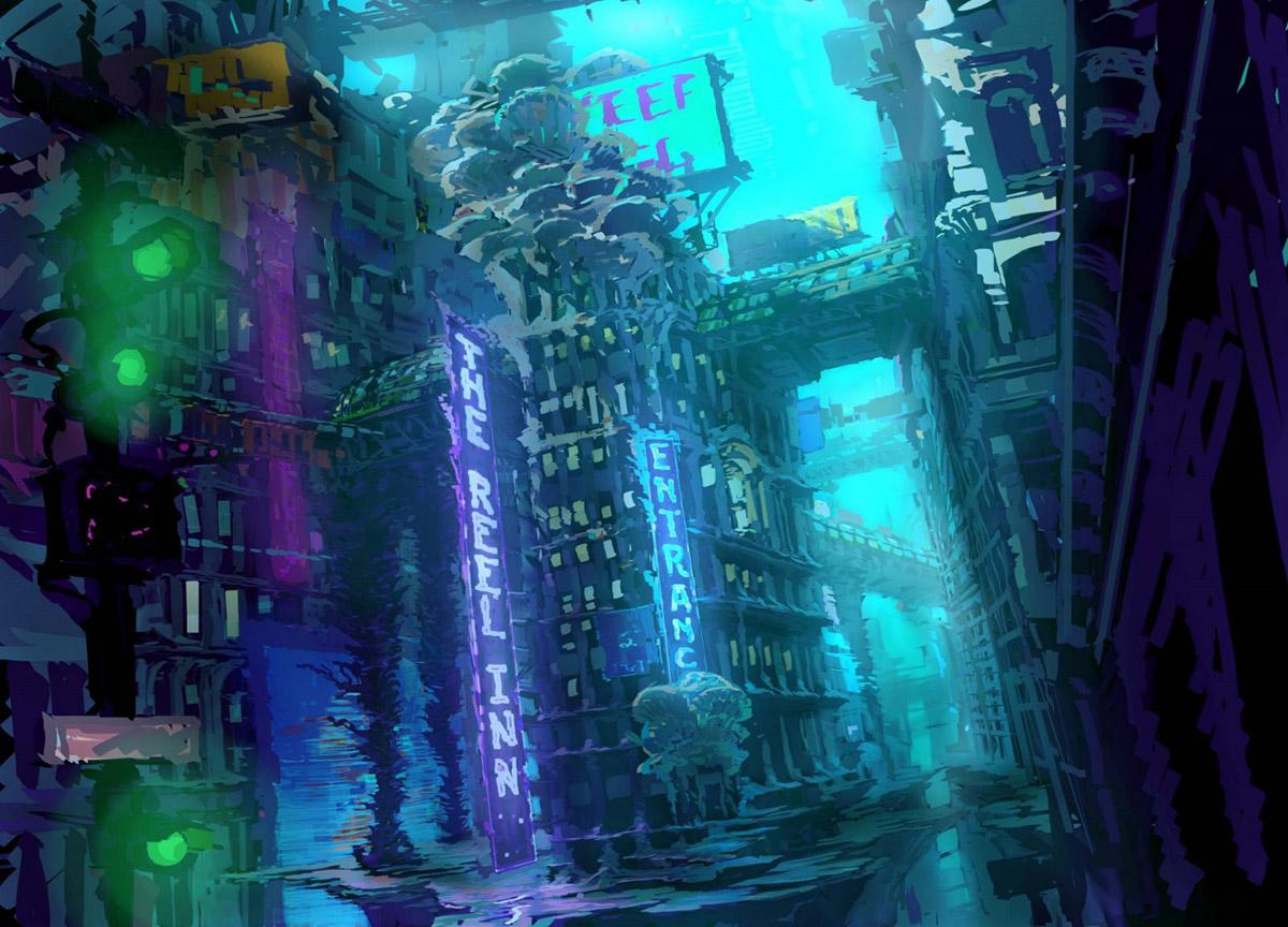 Living Lines Library Shark Tale 2004 Concept Art Color Keys
