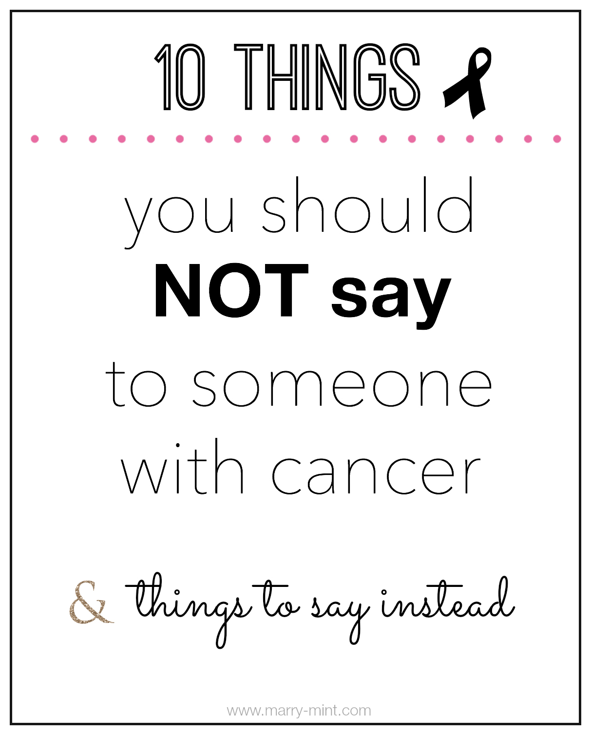 what to say when someone you love has cancer