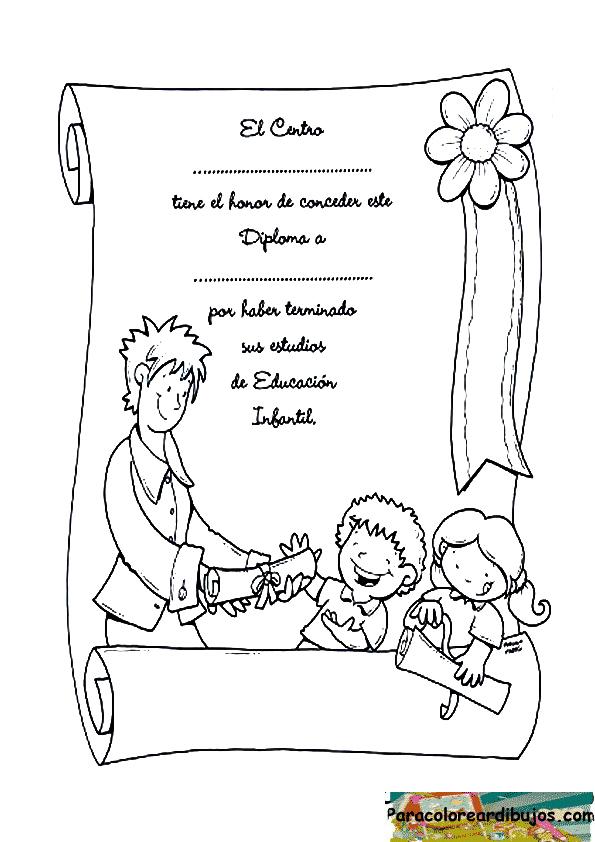 Dibujo de diploma para colorear