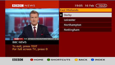 BBC NEWS EAST MIDLANDS - BBC RED BUTTON TEXT a516digital