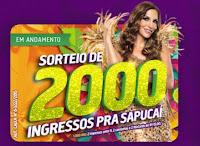 Sorteio de 2000 ingressos pra Sapucaí no Supermercados Guanabara