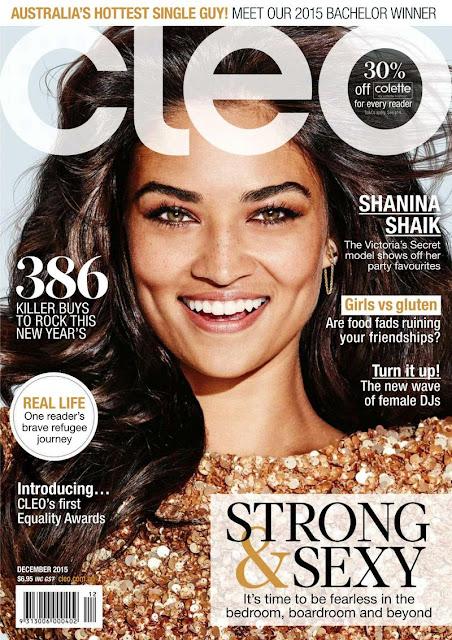 Fashion Model, @ Shanina Shaik - Cleo Australia, December 2015