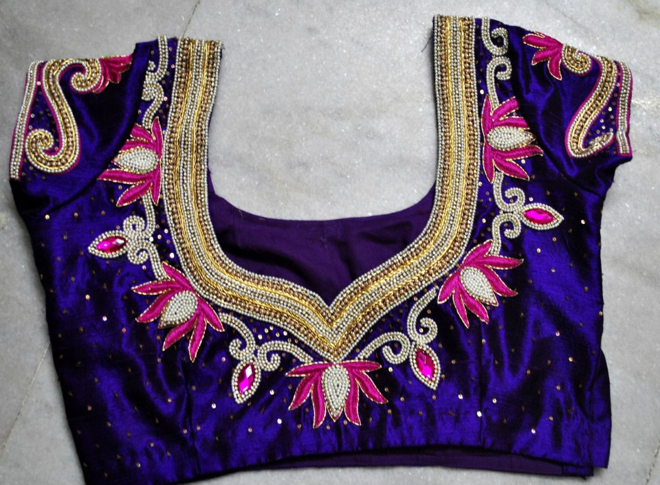 MODELS OF BLOUSE DESIGNS EMBROIDERY BLOUSE DESIGNS