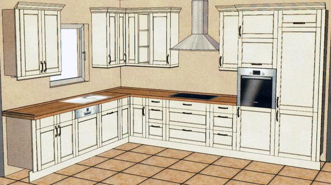 kleines gelbes haus k che. Black Bedroom Furniture Sets. Home Design Ideas