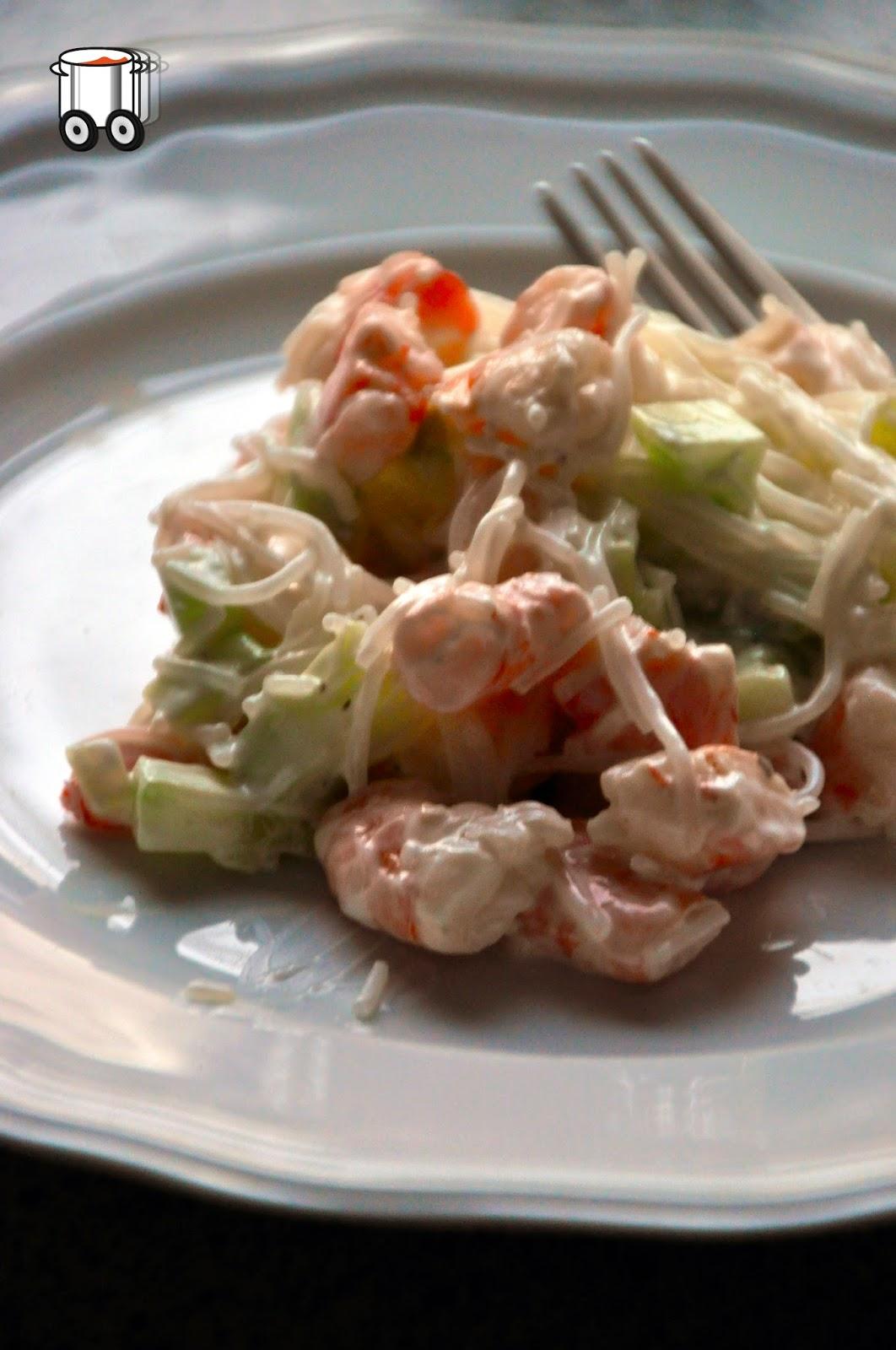 Schnell Preiswert Schmackhaft - Salat mit Reisnudeln
