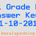 Last Grade Servant Exam Answer Keys 11-10-2014