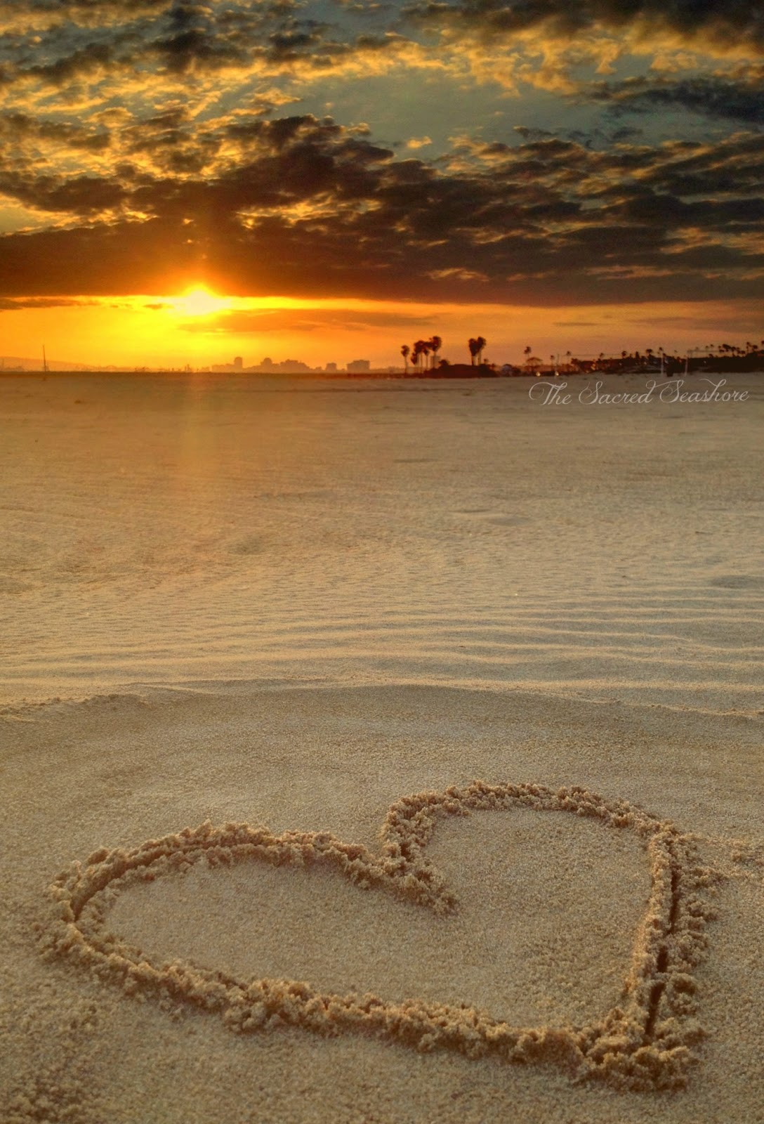 Heart In The Sand With Sunset | www.imgkid.com - The Image ...