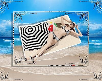 Praia chic Protetor solar em pó