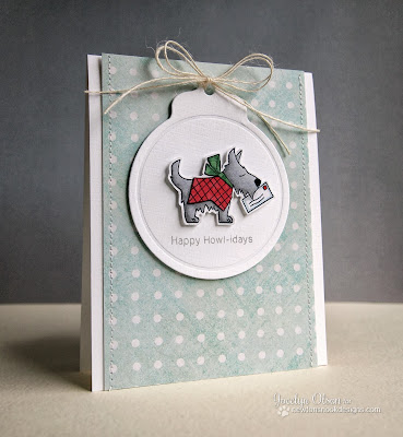 Dog Christmas card by Jocelyn Olson for Newton's Nook Designs