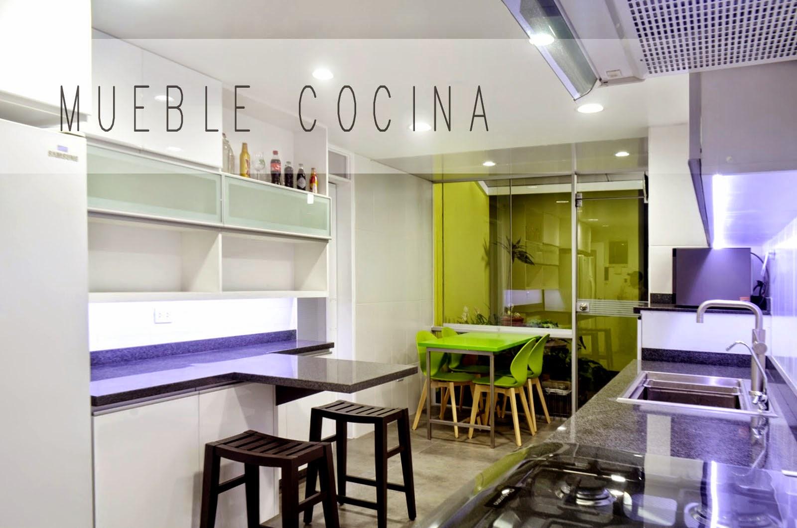 Mueble cocina en melamine y poliuretano for Mueble cocina 7 segundos