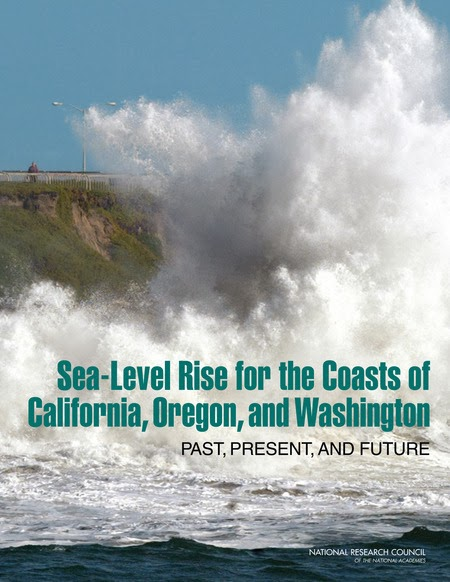 book cover: Sea-Level Rise for the Coasts of California, Oregon, and Washington