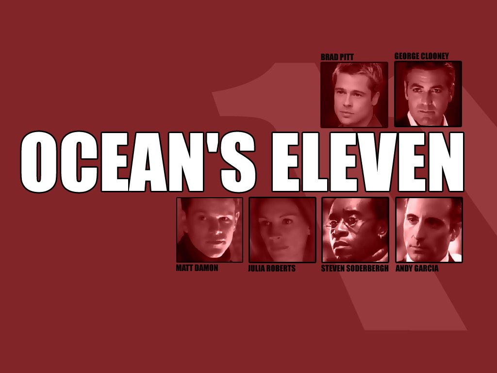 ocean's eleven Directed by steven soderbergh with george clooney, brad pitt, julia roberts, matt damon danny ocean and his eleven accomplices plan.