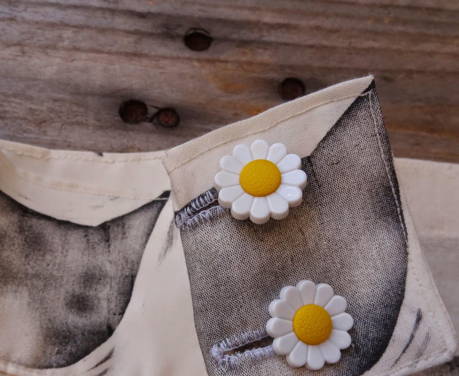cat skirt daisy sunflower handmade hecho a mano print estamapdo