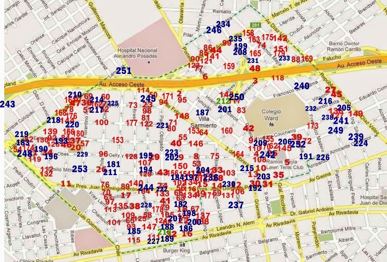 Mapa del Delito de Villa Sarmiento