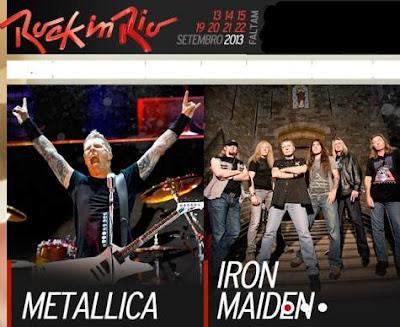 Metallica Iron Maiden Rock IN Rio 2013