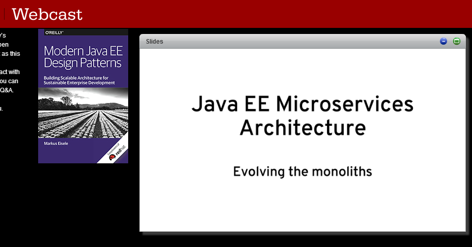 Java ee microservices architecture o 39 reilly webcast for Architecture java