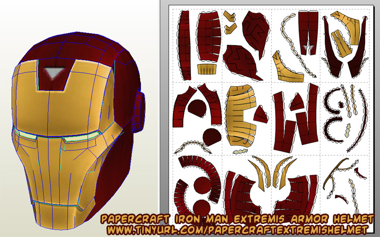 Iron man hand template for crafts