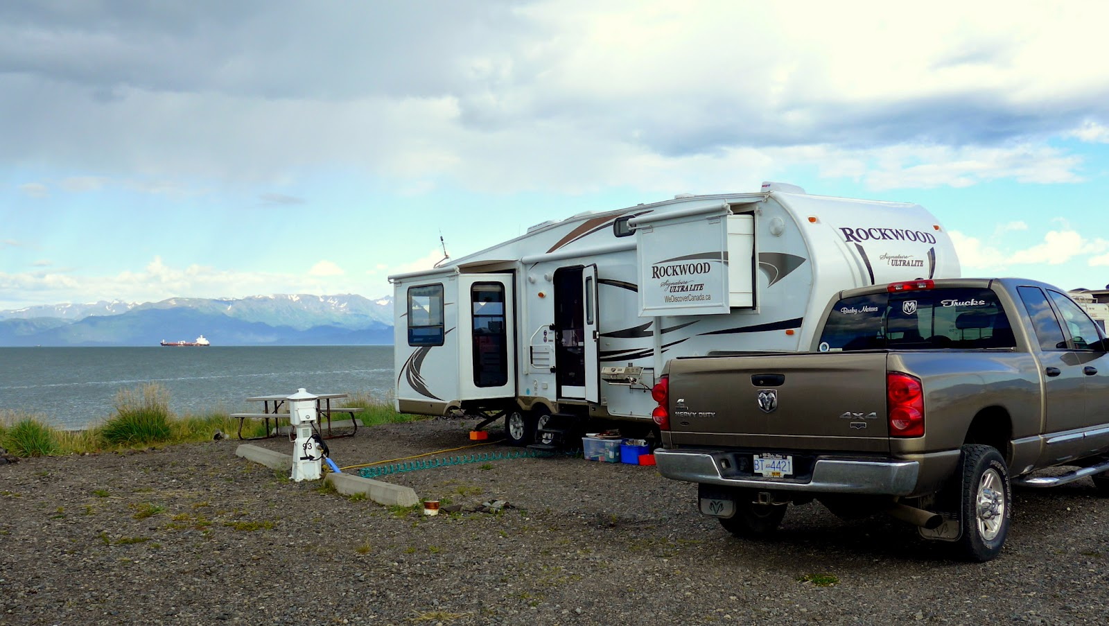 Our Campsite on Homer Spit