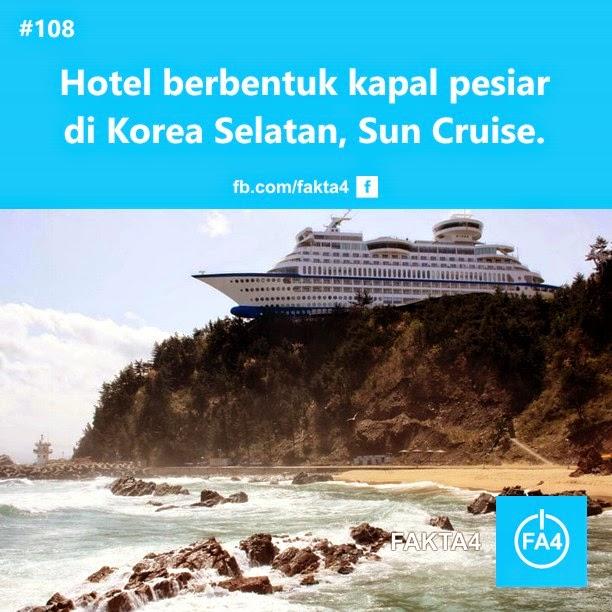 Hotel Berbentuk Kapal Pesiar di Korea Selatan