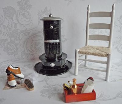 All about dollhouses and miniatures muur en schouw in de wasruimte van het poppenhuis gemaakt - Een wasruimte voorzien ...